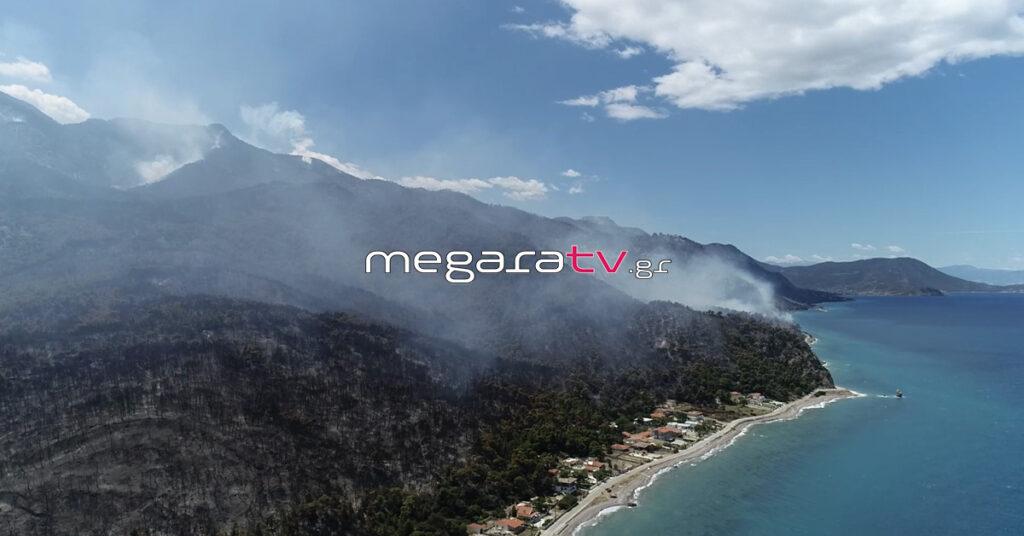Πυρκαγιά στην Κορινθία: Κρανίου τόπος το Αλεποχώρι – Συγκλονιστικές εικόνες από ψηλά (Video)