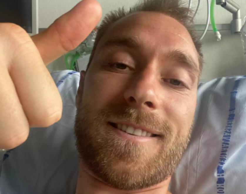 Η πρώτη φωτογραφία του Έρικσεν μέσα από το νοσοκομείο και το μήνυμα που έστειλε