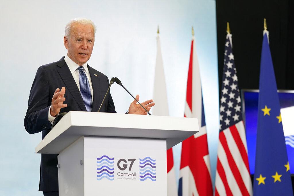 G7-Μπάιντεν: «Δεν επιζητεί σύγκρουση» με Ρωσία και Κίνα, αλλά τους «έτριξε τα δόντια»