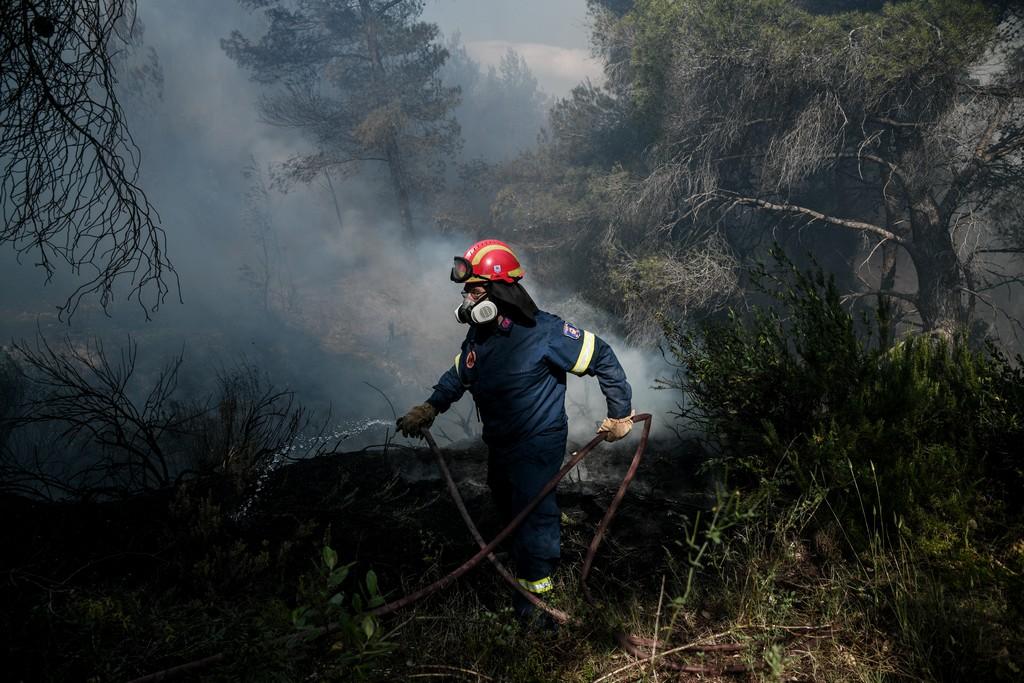 Φωτιά στις Γούβες Ηρακλείου