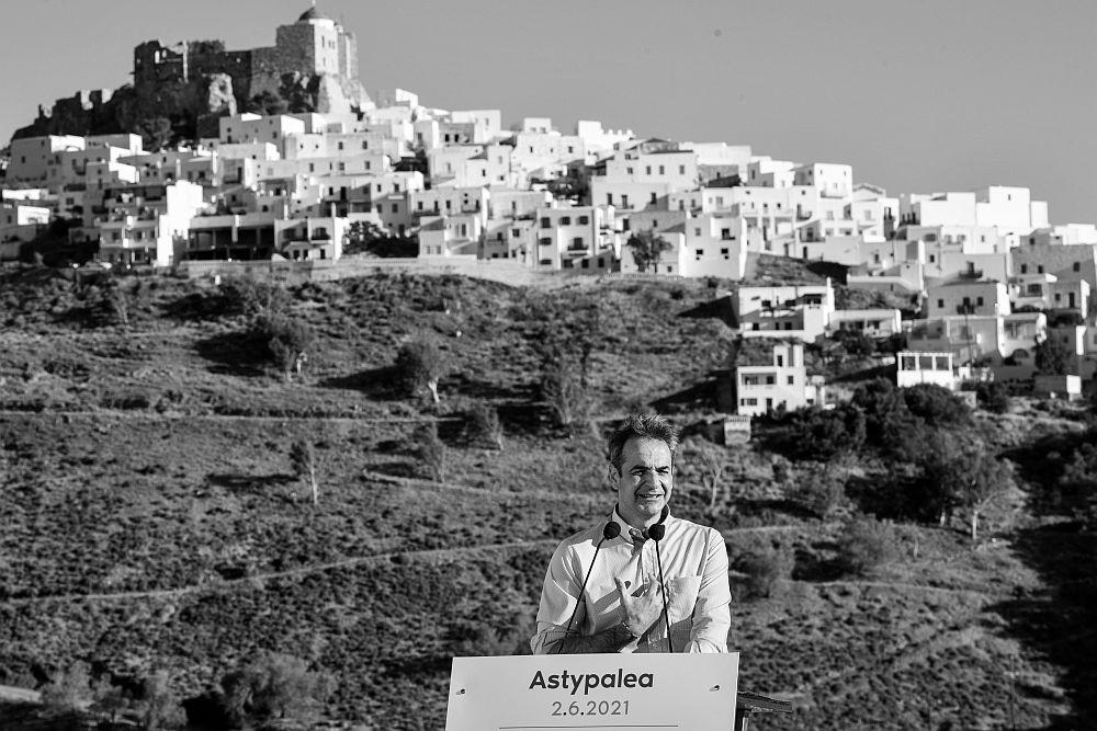 Ο Μητσοτάκης βάφτισε «πρώτο πράσινο νησί» την Αστυπάλαια αλλά… ξέχασε τα βραβεία της Τήλου (Video)