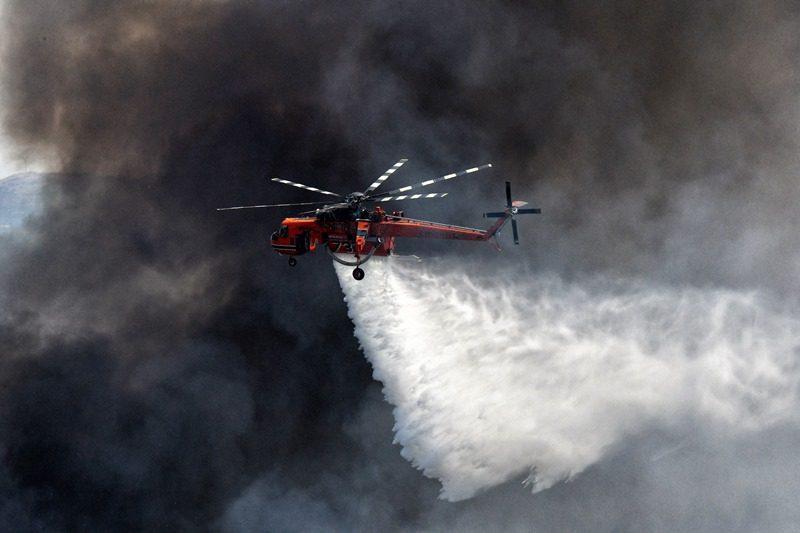 Χαλκιδική: Σε εξέλιξη δασική πυρκαγιά στον Ταξιάρχη