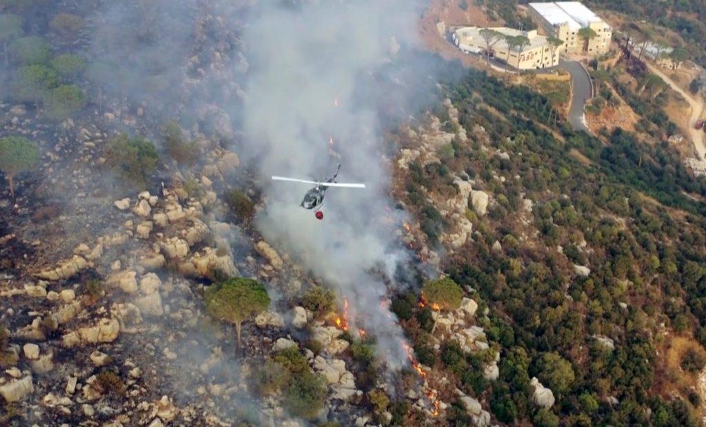 Καταστροφικές πυρκαγιές στον Λίβανο – Ένας νεκρός