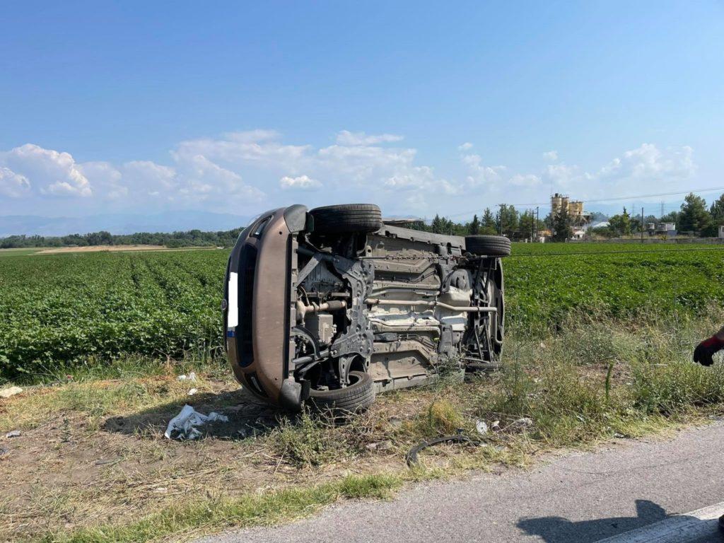 Τροχαίο ατύχημα με έξι τραυματίες στην εθνική Οδό Λάρισας- Τρικάλων