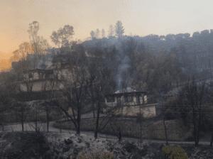 Πυρκαγιά στην Μεσσηνία: Κάηκαν σπίτια -Παραμένουν διάσπαρτες εστίες