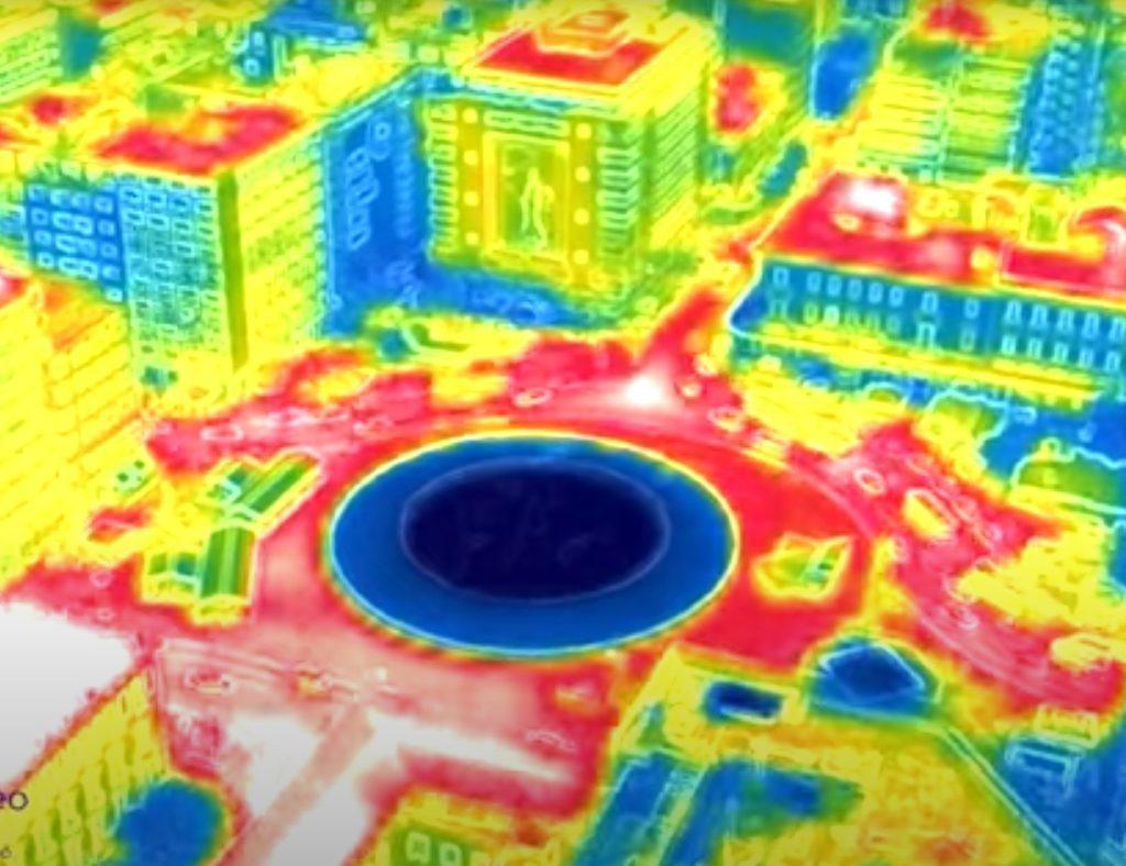 Καύσωνας: Drone με θερμική κάμερα «μέτρησε» ως 55 βαθμούς Κελσίου σε περιοχές της Αθήνας (Video)