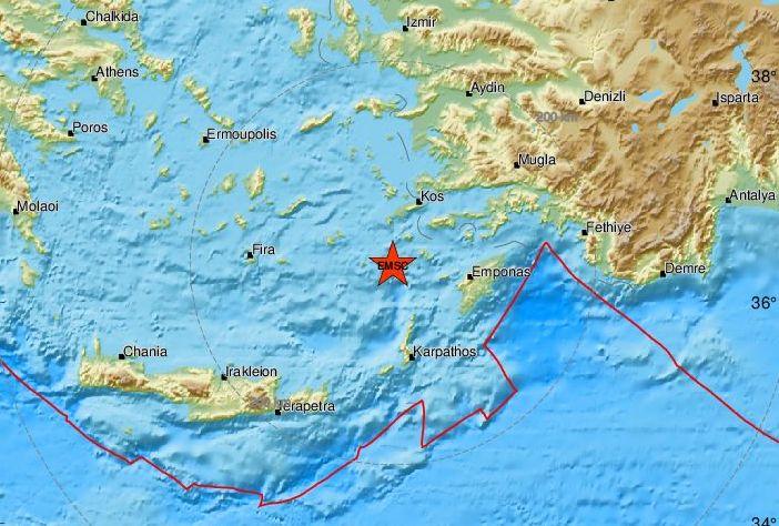 Σεισμός 5,3 Ρίχτερ στη Νίσυρο – Η τρίτη δόνηση σε λίγες ώρες