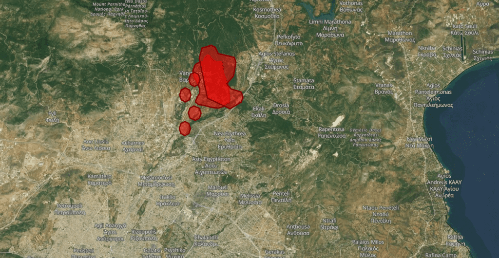 Πυρκαγιές σε Εύβοια και Βαρυμπόμπη: Πως αποτυπώνονται στο σύστημα πληροφόρησης της ΕΕ