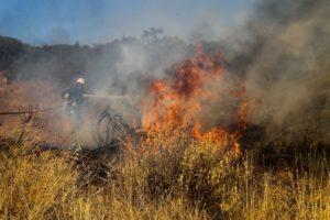 Σε εξέλιξη μεγάλη φωτιά στη Μεγαλόπολη – Τραυματίστηκε αντιδήμαρχος