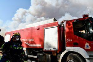Πυρκαγιά σε εργοστάσιο ξυλείας στον Ασπρόπυργο