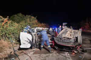 Χανιά: Πολλαπλή καραμπόλα με δύο νεκρούς και τέσσερις τραυματίες