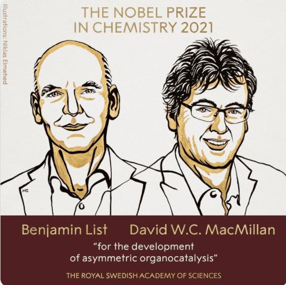 Νόμπελ Χημείας: Απονεμήθηκε στους Μπέντζαμιν Λιστ και Ντέιβιντ ΜακΜίλαν για την «ασύμμετρη οργανοκατάλυση»