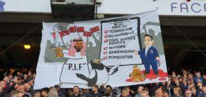 Premier League: Οι οπαδοί της Κρίσταλ Πάλας αποδοκίμασαν με καυστικό πανό το νέο αφεντικό της Νιουκάστλ