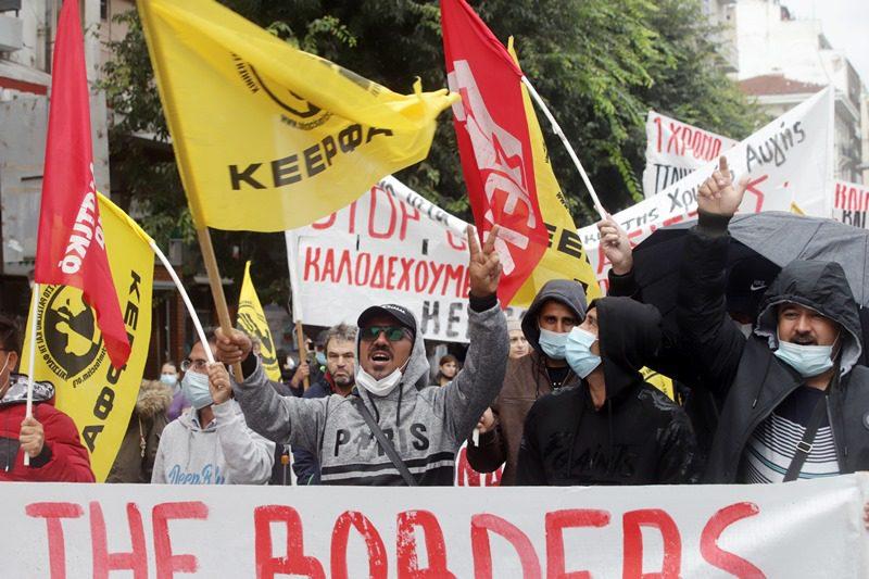 Αντιφασιστική – αντιρατσιστική πορεία στο κέντρο της Θεσσαλονίκης