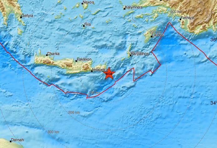 Σεισμός στην Κρήτη: Έγινε αισθητός μέχρι την Κύπρο