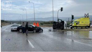 Σφοδρή καραμπόλα ΙΧ αυτοκινήτων στην Αμφιλοχία – πέντε τραυματίες (video)