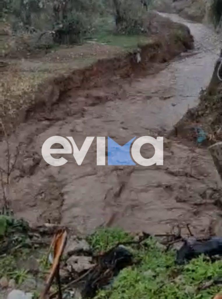 Έντονη βροχόπτωση στη Βόρεια Εύβοια:  Φούσκωσαν ξανά τα ρέματα – Ανησυχία για την κακοκαιρία «Μπάλλος»