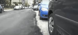 Σέρρες: Ασφαλτόστρωσαν τον μισό δρόμο γιατί είχε σταθμευμένα οχήματα