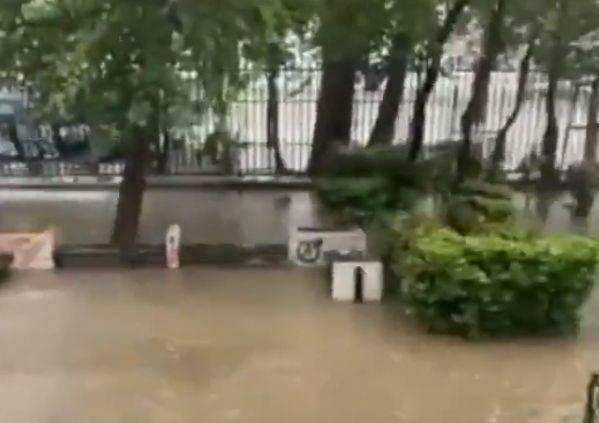 Πλημμύρισε η Σχολή Καλών Τεχνών – Νερά στάζουν από το ταβάνι στη Φιλοσοφική – Προβλήματα και στο Γεωπονικό (Video)