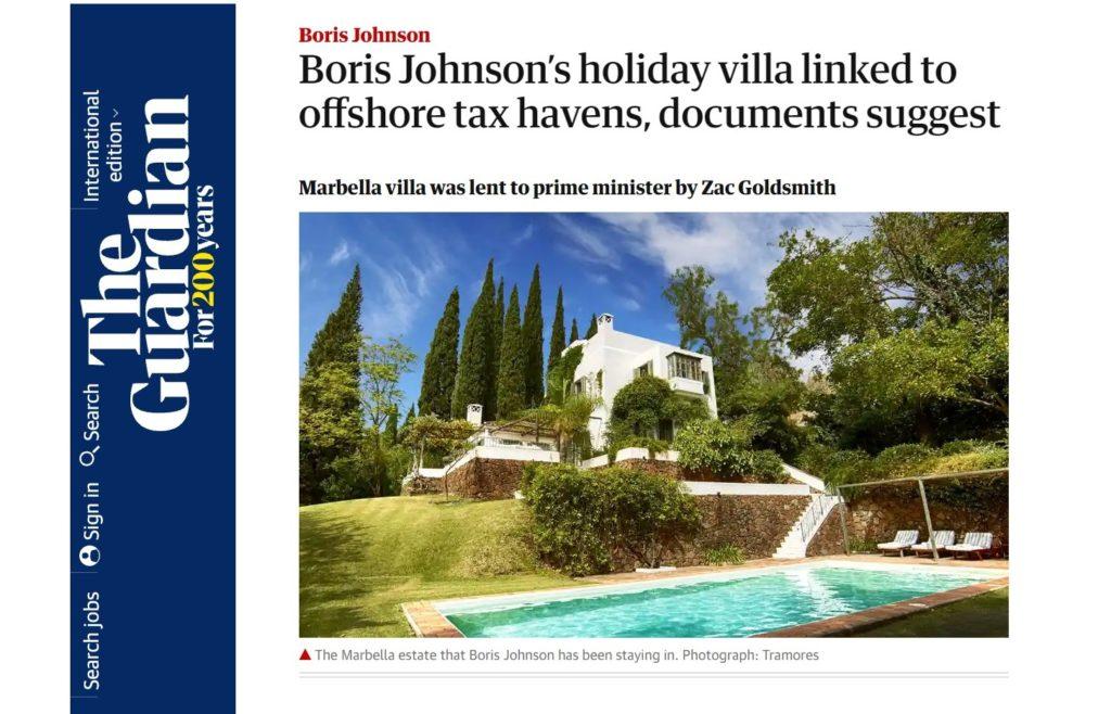 Νέες περιπέτειες για τον Μπόρις Τζόνσον: Διακοπές σε βίλα που ανήκει σε offshore εταιρείες