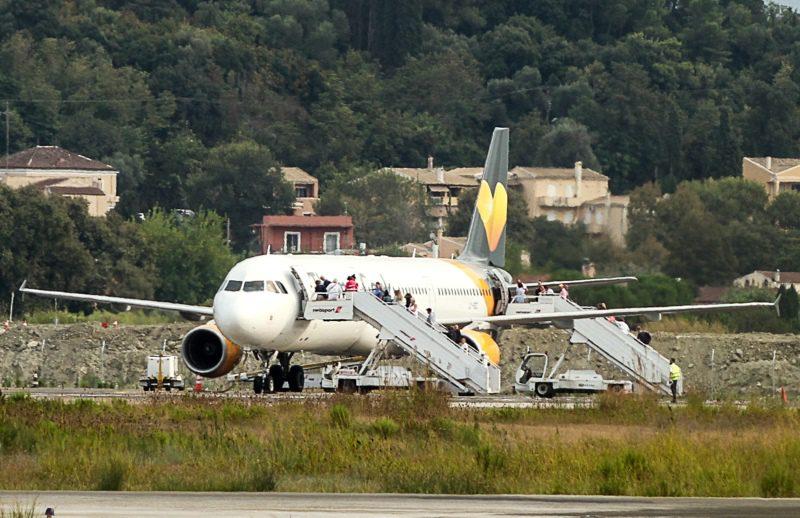 Tα πουλιά «προσγείωσαν» στο αεροδρόμιο της Κέρκυρας αεροπλάνο με προορισμό το Ντίσελντορφ