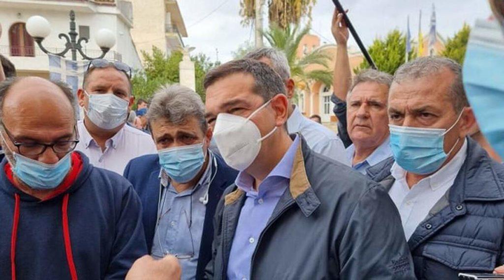 Επίσκεψη του Αλέξη Τσίπρα στο σεισμόπληκτο Αρκαλοχώρι